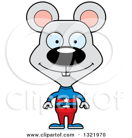Clipart of a Cartoon Happy Mouse Super Hero - Royalty Free Vector Illustration by Cory Thoman