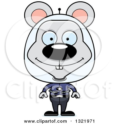 Clipart of a Cartoon Happy Space Mouse - Royalty Free Vector Illustration by Cory Thoman