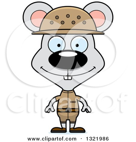Clipart of a Cartoon Happy Mouse Zookeeper - Royalty Free Vector Illustration by Cory Thoman