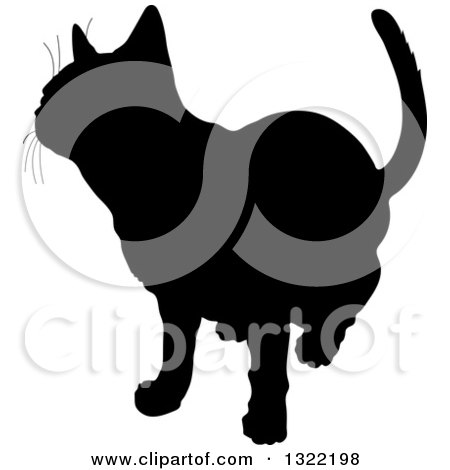 Clipart of a Bl... Curious Cat Clipart