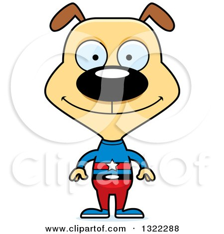 Clipart of a Cartoon Happy Dog Super Hero - Royalty Free Vector Illustration by Cory Thoman