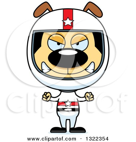 Clipart of a Cartoon Mad Dog Race Car Driver - Royalty Free Vector Illustration by Cory Thoman