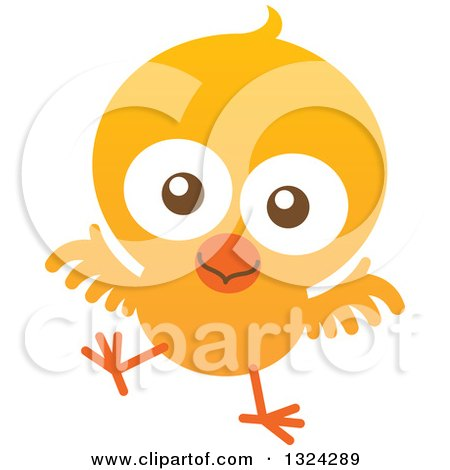 Clipart of a Cartoon Baby Chick - Royalty Free Vector Illustration by Zooco