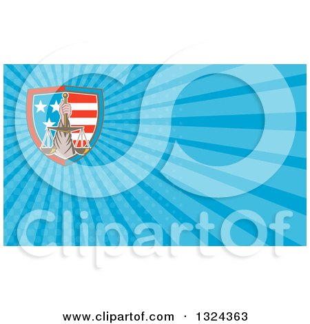Clipart Of A Hand Holding up Scales of Justice - Royalty Free Vector Illustration by patrimonio
