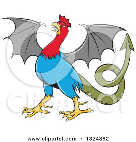 Clipart of a Cartoon Basilisk Fantasy Creature - Royalty Free Vector Illustration by patrimonio