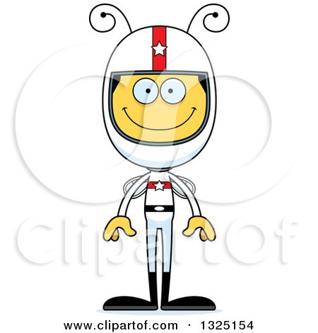 Clipart of a Cartoon Happy Bee Race Car Driver - Royalty Free Vector Illustration by Cory Thoman