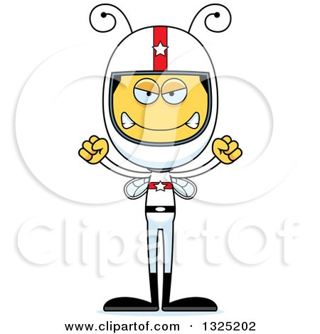 Clipart of a Cartoon Mad Bee Race Car Driver - Royalty Free Vector Illustration by Cory Thoman