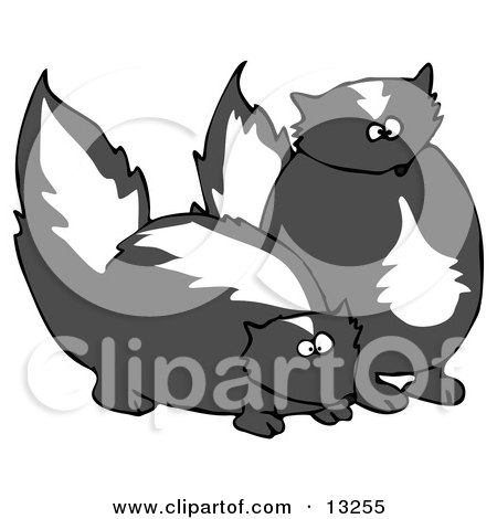 Pair of Mischievous Skunks Clipart Illustration by djart