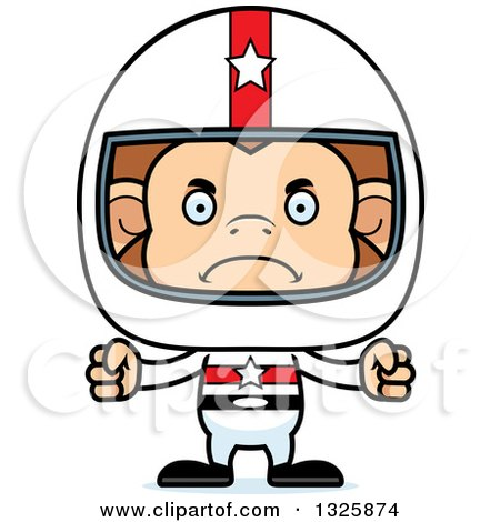 Clipart of a Cartoon Mad Monkey Race Car Driver - Royalty Free Vector Illustration by Cory Thoman