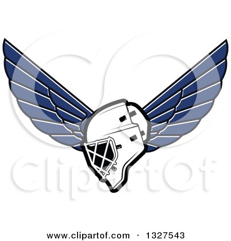 Clipart of a Winged Ice Hockey Mask - Royalty Free Vector Illustration by Vector Tradition SM