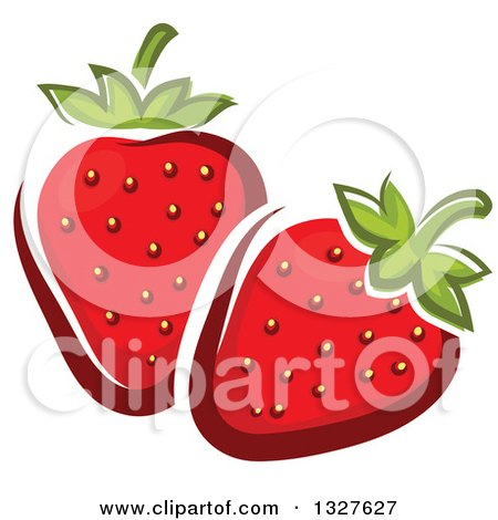 Clipart of Cartoon Strawberries - Royalty Free Vector Illustration by Vector Tradition SM