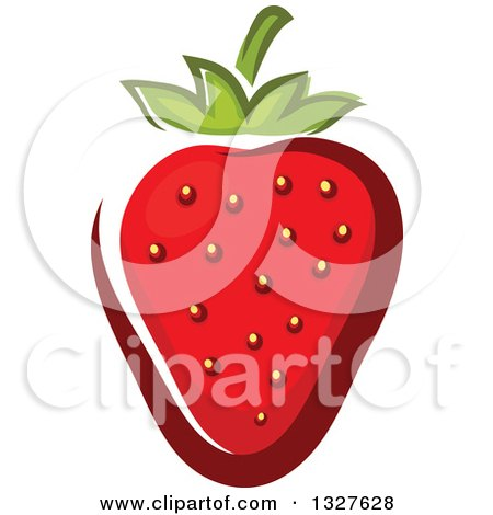 Clipart of a Cartoon Strawberry - Royalty Free Vector Illustration by Vector Tradition SM