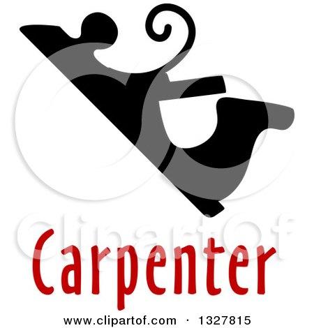 Vintage Manual Jack-planetool over Red Carpenter Text Posters, Art Prints