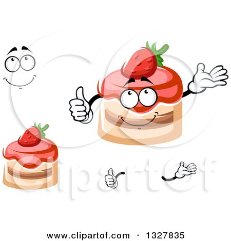 Strawberry Cake Cartoon Images : Royalty-Free (RF) Strawberry Cake Character Clipart ...