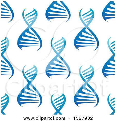 Clipart of a Seamless Gradient Blue DNA Background Pattern 2 - Royalty Free Vector Illustration by Vector Tradition SM
