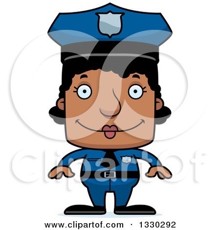 Clipart Happy Red Haired Police Girl - Royalty Free Vector ...