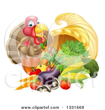 Royalty-Free (RF) Cornucopia Clipart, Illustrations, Vector ...