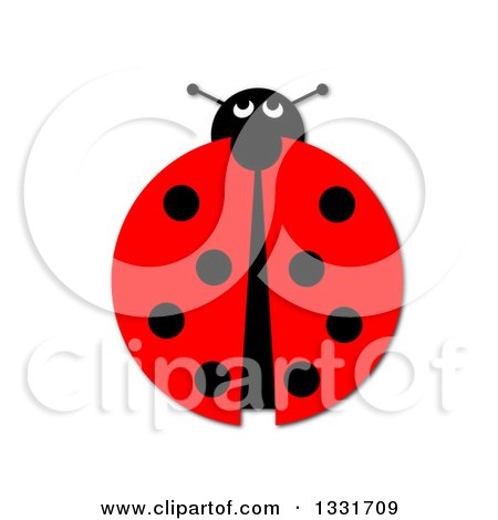 Clipart of a Ladybug on White - Royalty Free Illustration by oboy