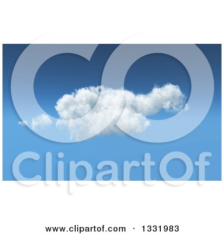 Clipart of a Blurred Puffy Cloud in a Blue Sky - Royalty Free Vector Illustration by KJ Pargeter