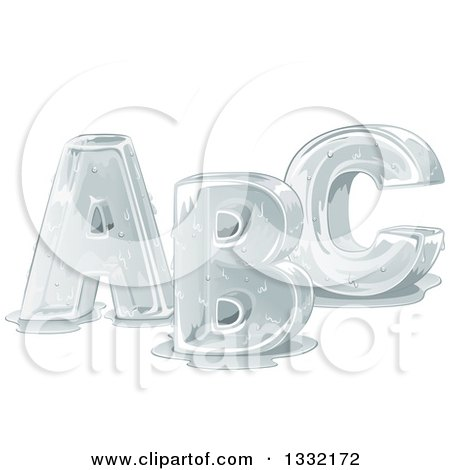 Clipart of Melting Capital ABC Alphabet Letters - Royalty Free Vector Illustration by BNP Design Studio
