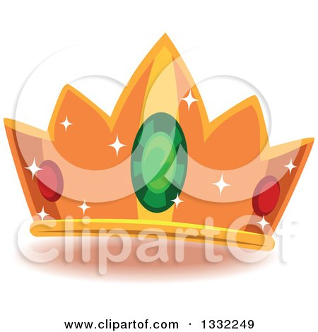 Clipart of a Jeweled Crown - Royalty Free Vector Illustration by BNP Design Studio