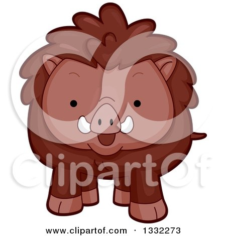 Clipart of a Cute Happy Boar - Royalty Free Vector Illustration by BNP Design Studio