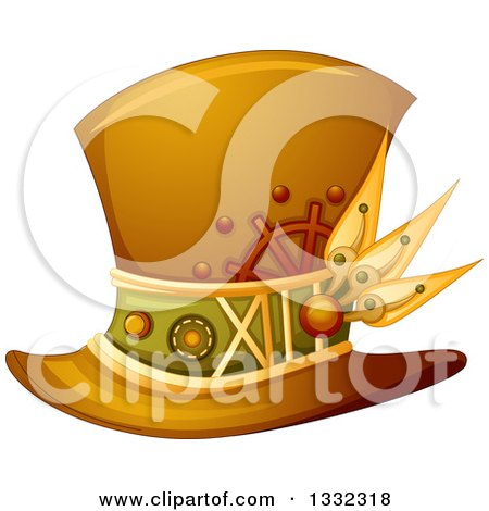 Clipart of a Steampunk Top Hat - Royalty Free Vector Illustration by BNP Design Studio