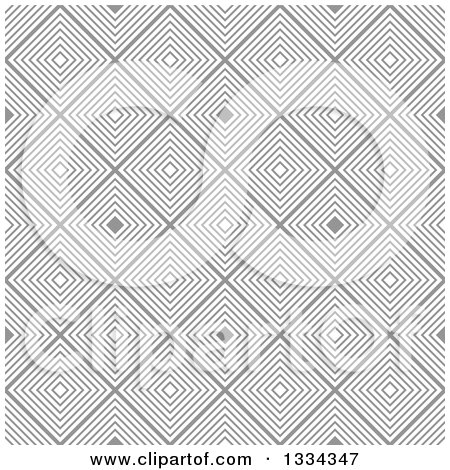 Clipart of a Retro Seamless Diamond Illusion Background Pattern - Royalty Free Vector Illustration by michaeltravers