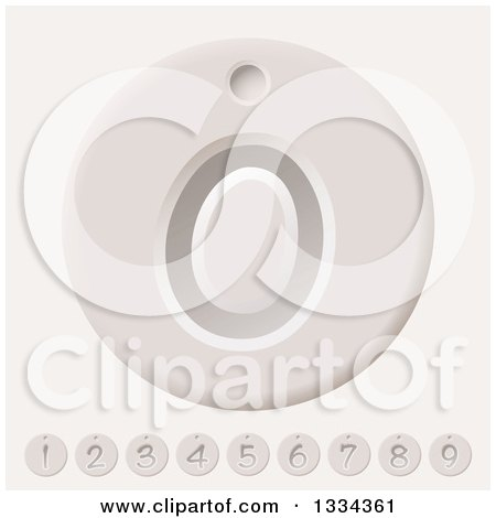 Clipart of Counter Number Tags - Royalty Free Vector Illustration by michaeltravers