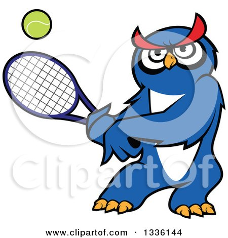 royalty free rf blue owl clipart illustrations vector graphics 1 rh clipartof com Sports Clip Art of an Owl Sports Clip Art of an Owl