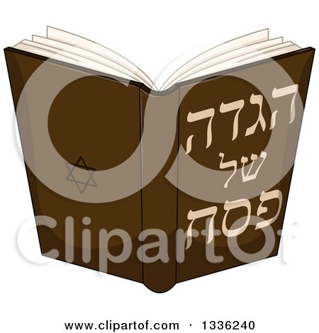 Clipart of a Jewish Haggadah of Passover Book - Royalty Free Vector Illustration by Liron Peer