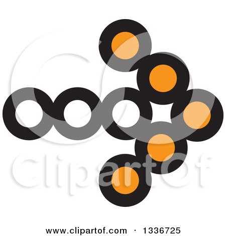 Clipart of a Black and Orange Arrow App Icon Button Design Element - Royalty Free Vector Illustration by ColorMagic