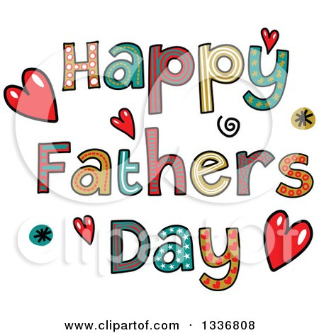 Clip Art Happy Fathers Day Clipart royalty free rf fathers day clipart illustrations vector preview patterned sketched happy text with hearts and spirals by prawny