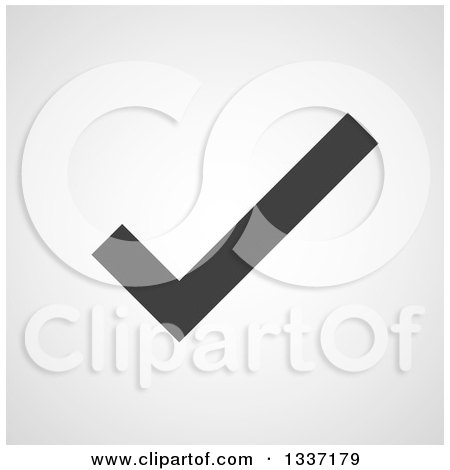 Clipart of a Grayscale Selection Tick Check Mark and Shaded Background App Icon Button Design Element 6 - Royalty Free Vector Illustration by ColorMagic