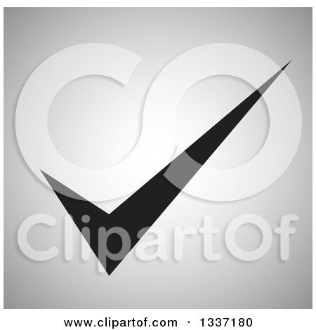 Clipart of a Grayscale Selection Tick Check Mark and Shaded Background App Icon Button Design Element 8 - Royalty Free Vector Illustration by ColorMagic