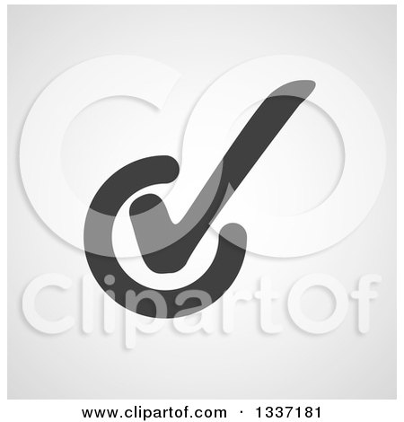 Clipart of a Grayscale Selection Tick Check Mark and Shaded Background App Icon Button Design Element 10 - Royalty Free Vector Illustration by ColorMagic