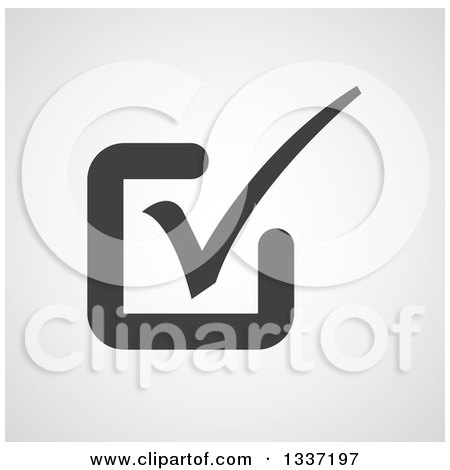 Clipart of a Grayscale Selection Tick Check Mark and Shaded Background App Icon Button Design Element 11 - Royalty Free Vector Illustration by ColorMagic