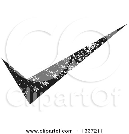 Clipart of a Distressed Black Selection Tick Check Mark App Icon Button Design Element - Royalty Free Vector Illustration by ColorMagic