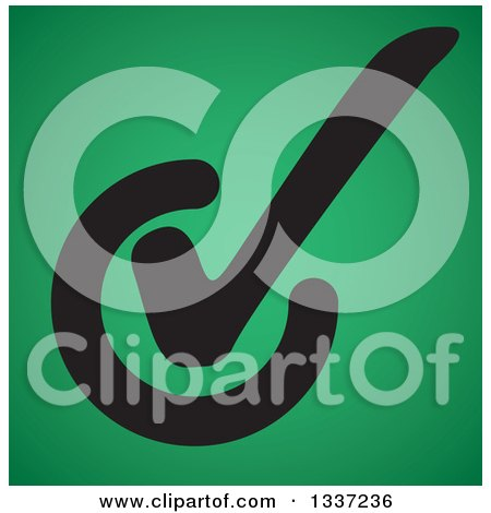 Clipart of a Black Selection Tick Check Mark over Green App Icon Button Design Element - Royalty Free Vector Illustration by ColorMagic