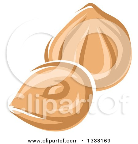 Clipart of Cartoon Hazelnuts - Royalty Free Vector Illustration by Vector Tradition SM