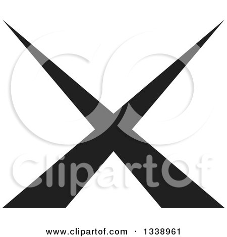 Clipart of Negation Rejection or No X Mark App Icon Design ...