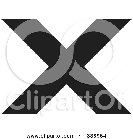 Clipart of a Black Negation X Mark App Icon Design Element 4 - Royalty Free Vector Illustration by ColorMagic