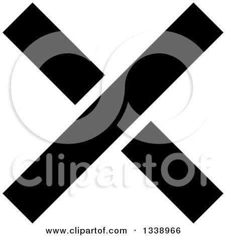 Clipart of a Black Negation X Mark App Icon Design Element 8 - Royalty Free Vector Illustration by ColorMagic