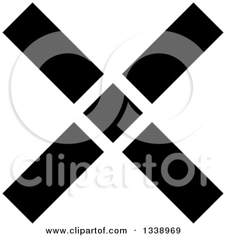 Clipart of a Black Negation X Mark App Icon Design Element 10 - Royalty Free Vector Illustration by ColorMagic