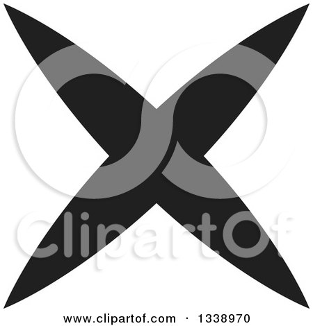 Clipart of a Black Negation X Mark App Icon Design Element 2 - Royalty Free Vector Illustration by ColorMagic