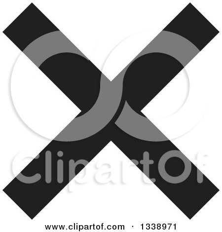 Clipart of a Black Negation X Mark App Icon Design Element - Royalty Free Vector Illustration by ColorMagic