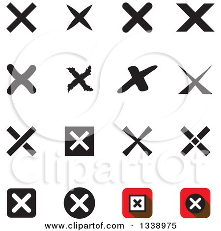 Clipart of Negation Rejection or No X Mark App Icon Design Elements - Royalty Free Vector Illustration by ColorMagic