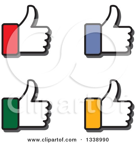 Clipart of Colorful Cuffed Thumb up like Hand App Icon Design Elements - Royalty Free Vector Illustration by ColorMagic