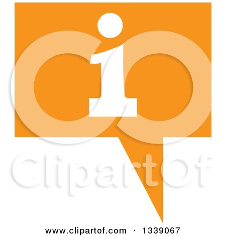 Clipart of a Letter I Information and Orange Speech Balloon App Icon Design Element - Royalty Free Vector Illustration by ColorMagic