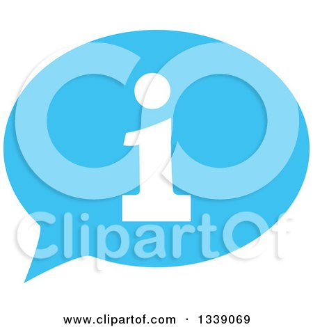 Clipart of a Letter I Information and Blue Speech Balloon App Icon Design Element 4 - Royalty Free Vector Illustration by ColorMagic